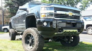 Lifted Chevy From North East Adds Curved LED Light Bar